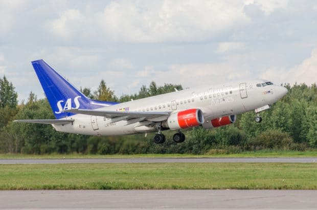 Boeing 737 SAS airlines