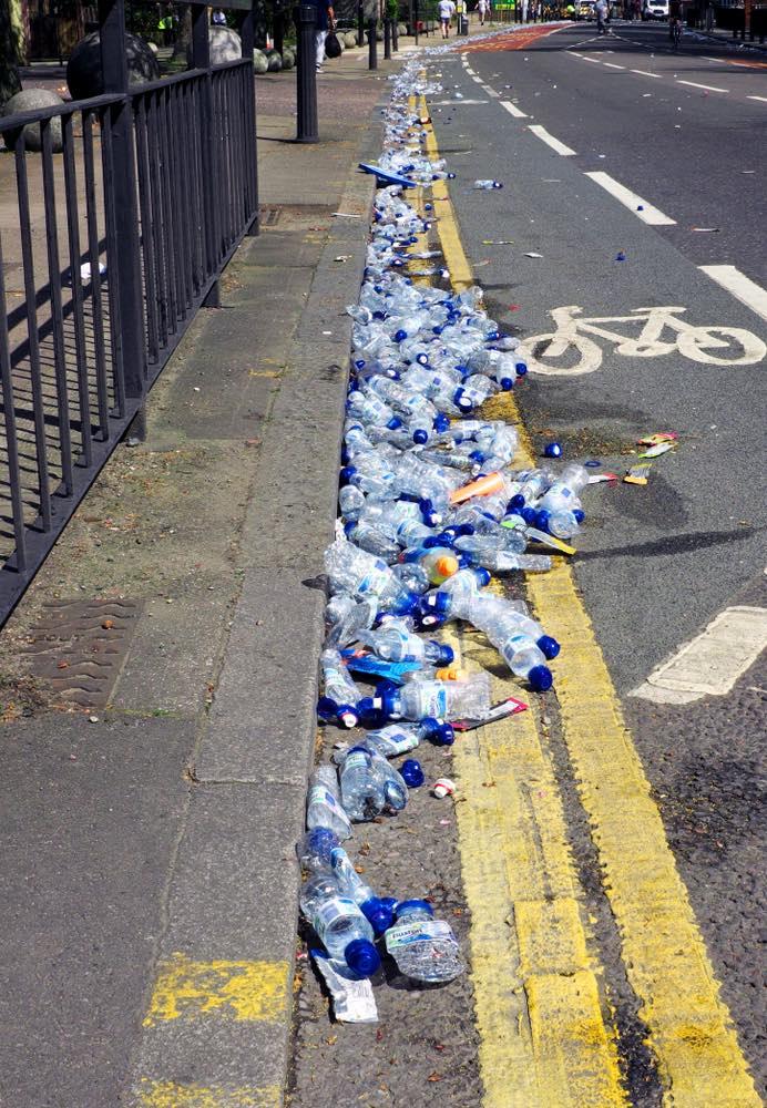 Basura maratón Londres