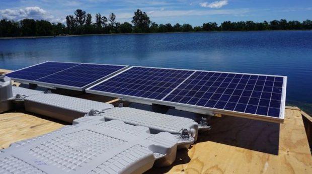 Comienza la instalación del mayor proyecto solar flotante de California