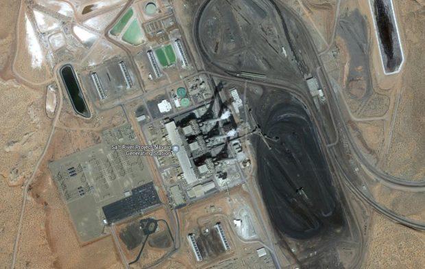 Navajo Generating Station, una gigantesca central de carbón en Arizona.