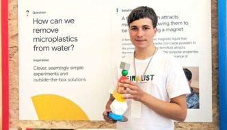 Joven irlandés gana el premio Google Science Award por desarrollar método para extraer microplásticos de los océanos