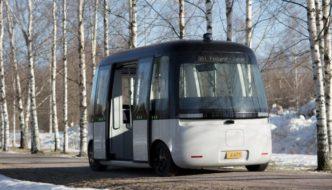 El primer autobús autónomo eléctrico se prueba en Helsinki