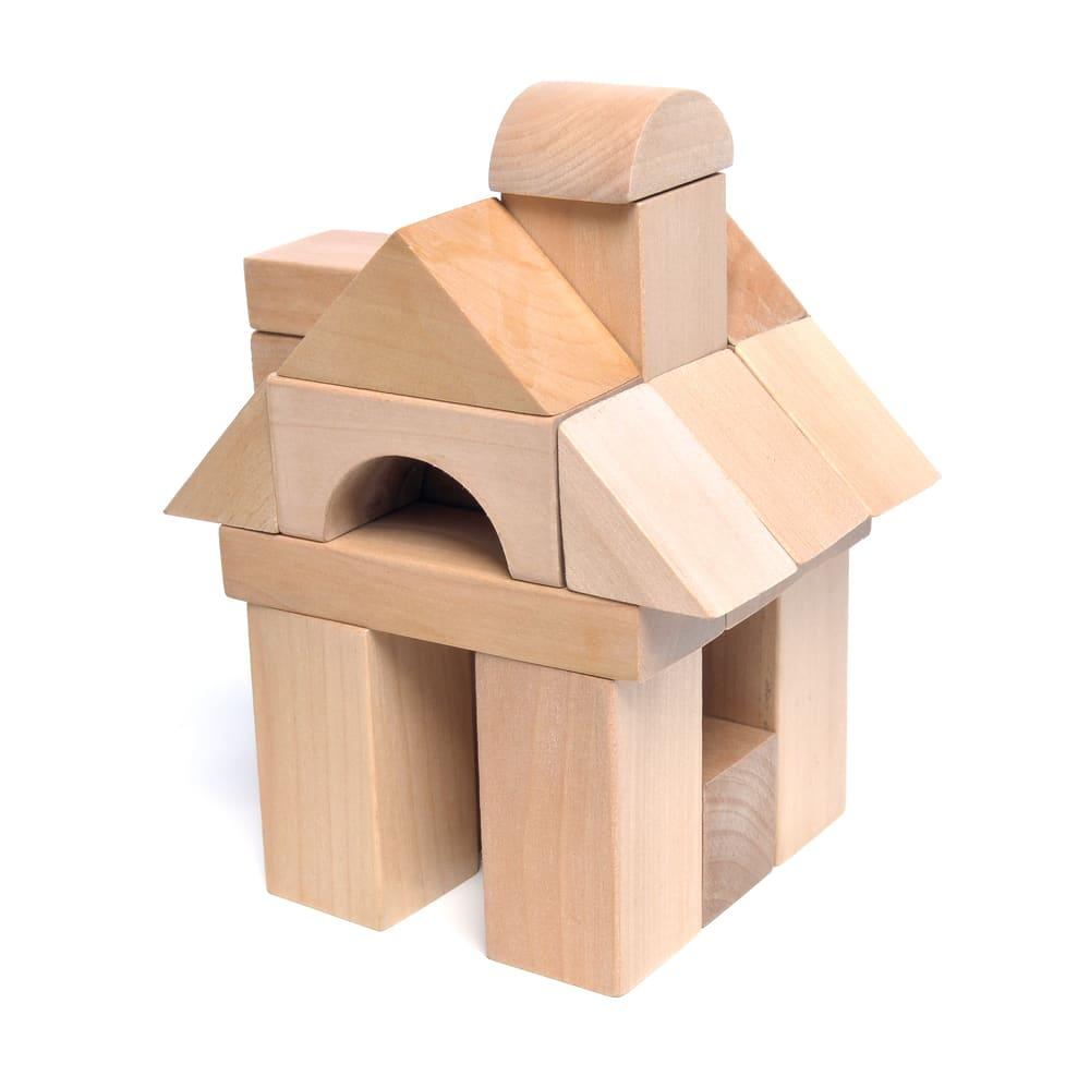 Juego construcción madera