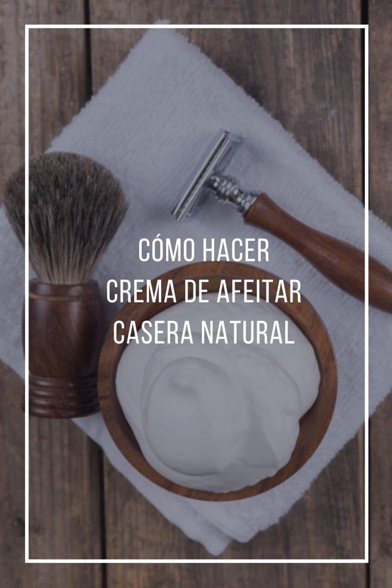 Cómo hacer crema de afeitar casera natural