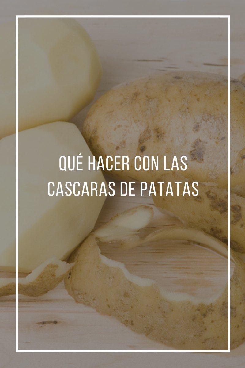 Qué hacer con las cascaras de patatas