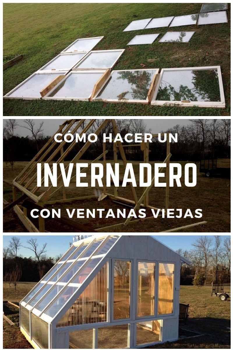 Cómo hacer un invernadero con ventanas viejas