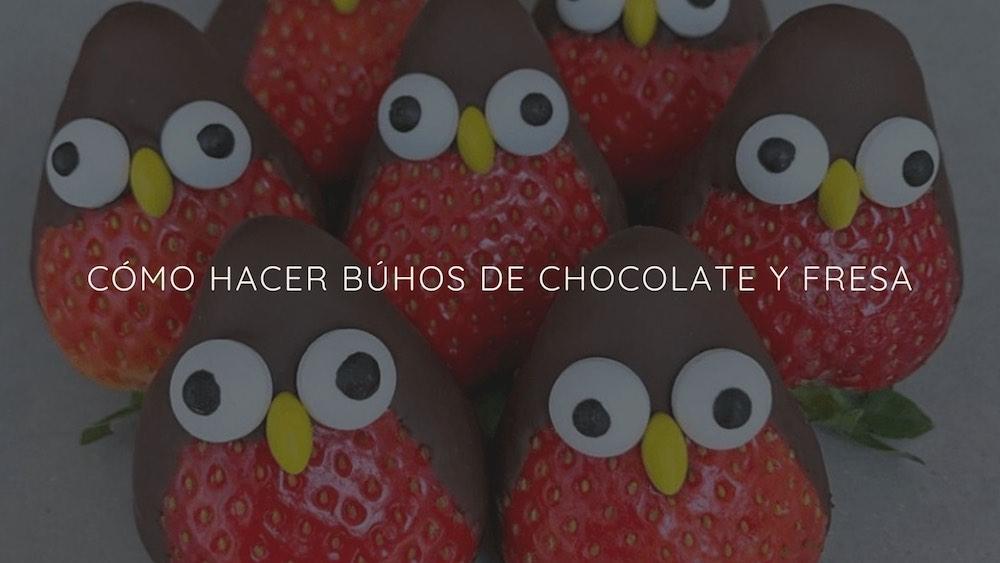 Búhos-de-chocolate-fresa