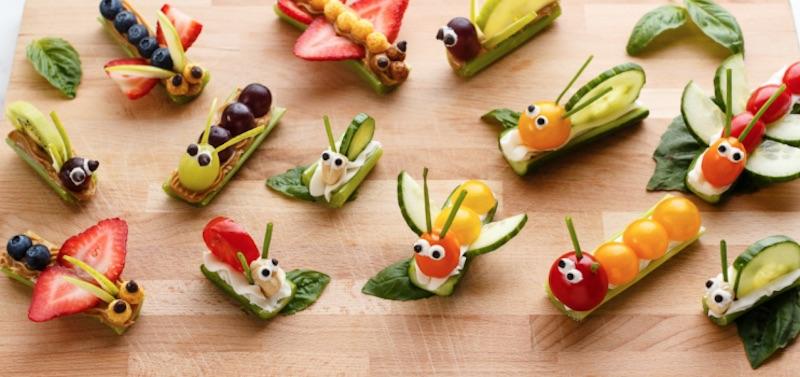 Cómo hacer bocadillos de frutas y verduras
