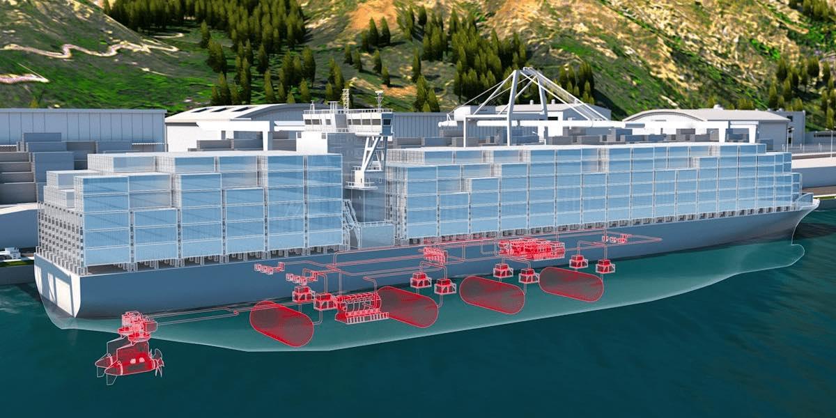 Nuevo sistema de células de combustible para reducir la contaminación de los grandes buques cargueros