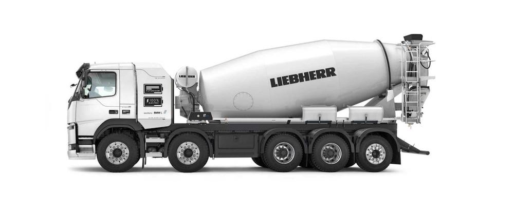 Liebherr presenta las primeras hormigoneras 100% eléctricas
