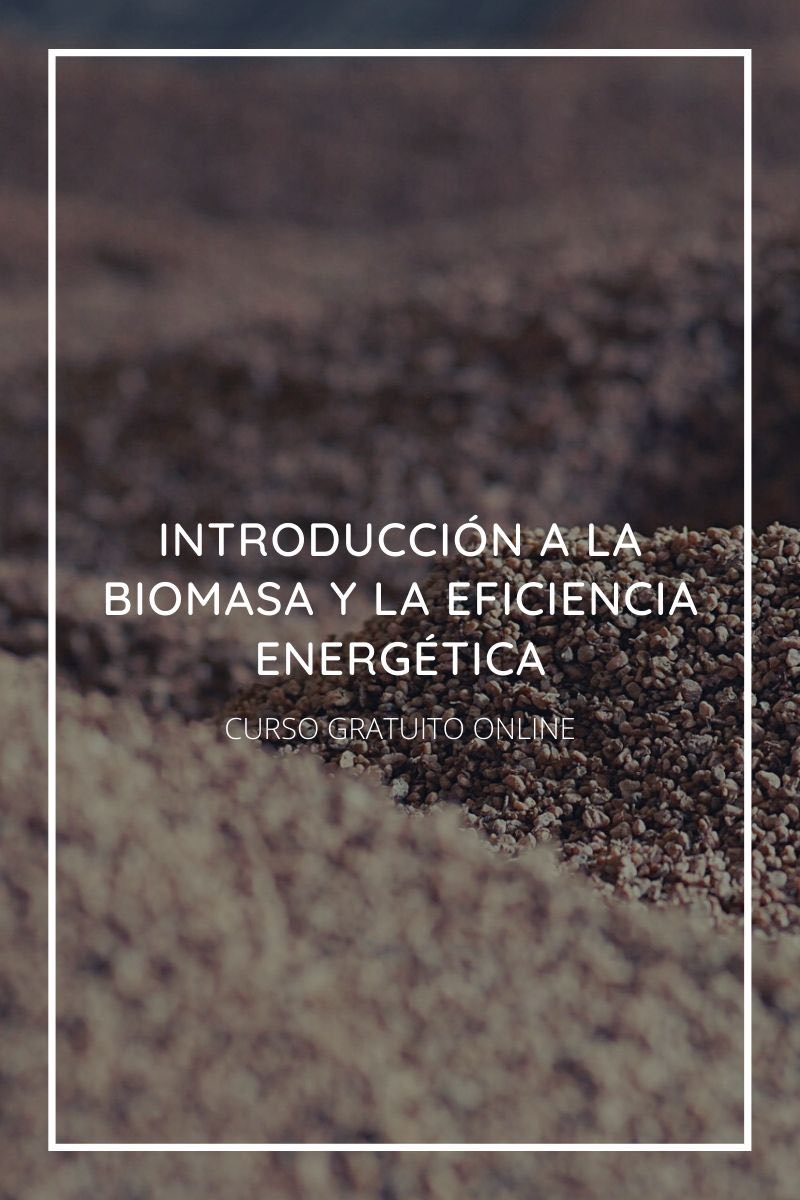 Curso gratuito online Introducción a la Biomasa y la Eficiencia Energética
