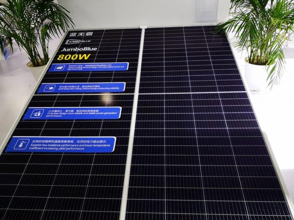 JA Solar presenta módulos de hasta 800 W para revolucionar el sector solar