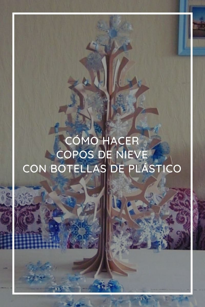 Cómo hacer copos de nieve con botellas de plástico