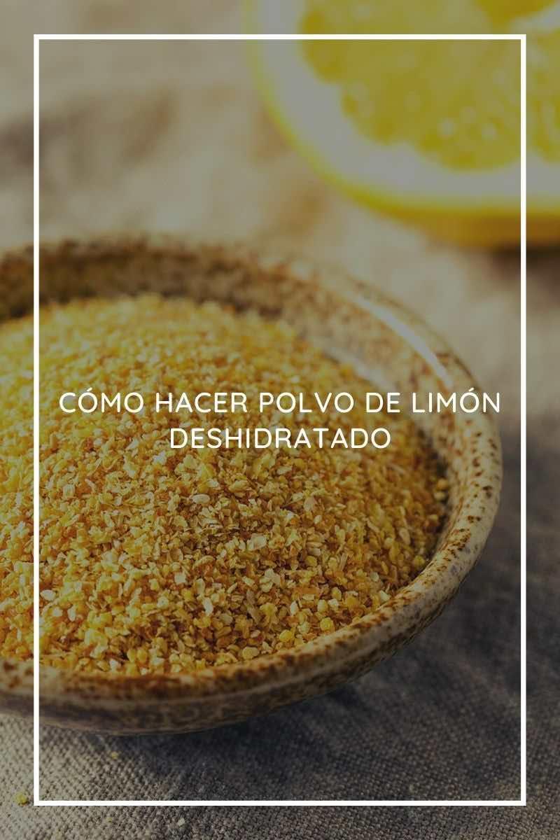 Cómo hacer polvo de limón deshidratado