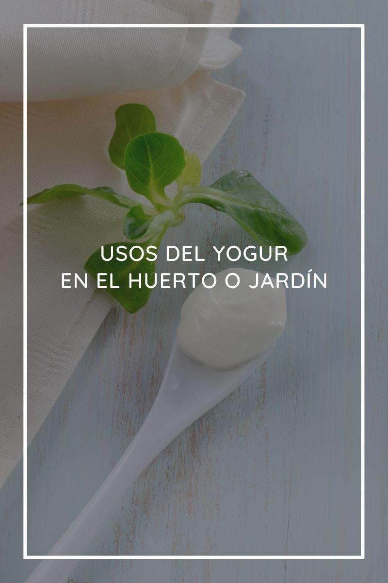 5 usos del yogur en el huerto o jardín
