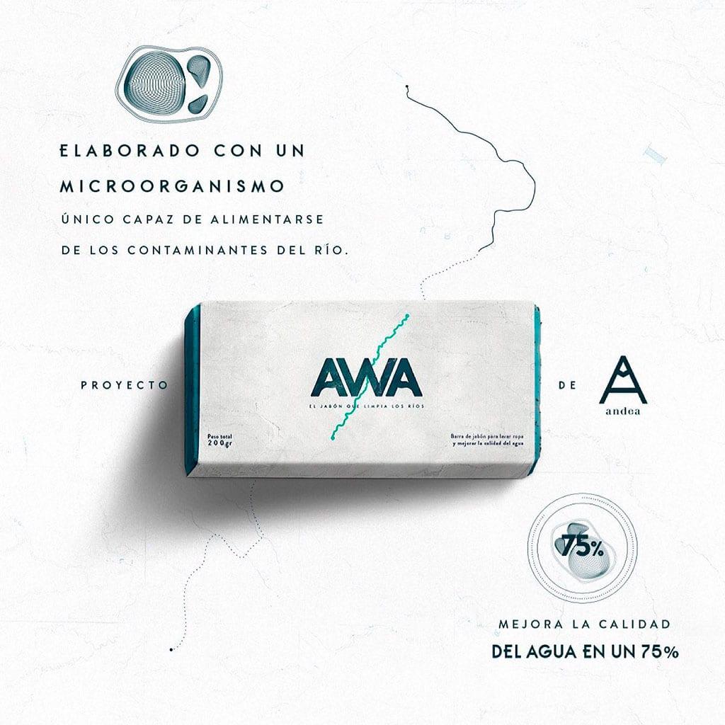 Awa, el jabón que limpia los ríos de Perú