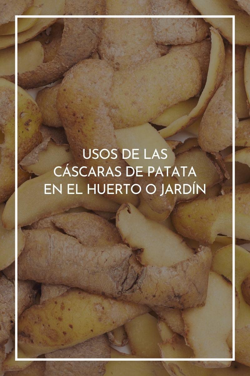 Usos de las cáscaras de patata en el huerto o jardín