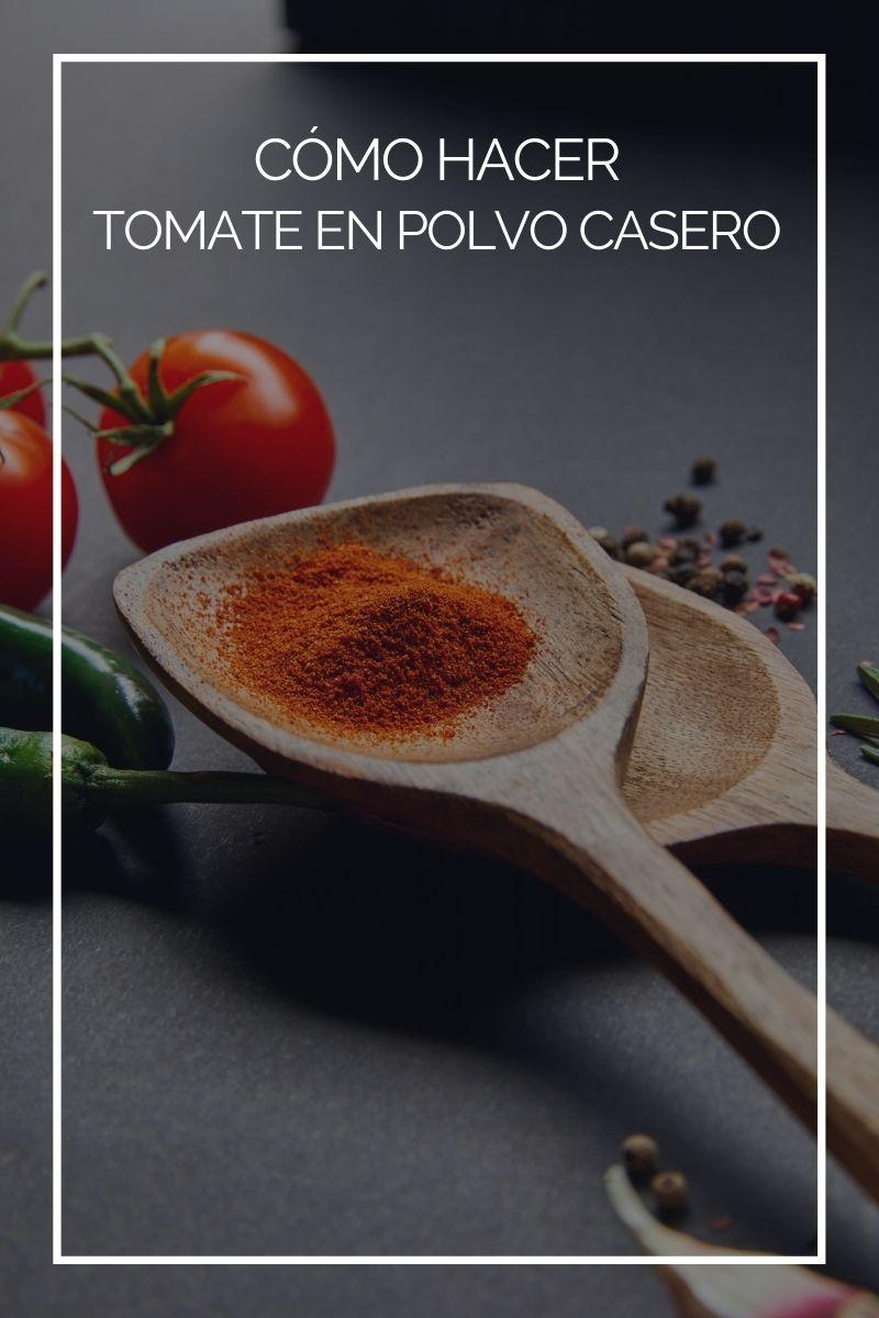 Cómo hacer tomate en polvo casero
